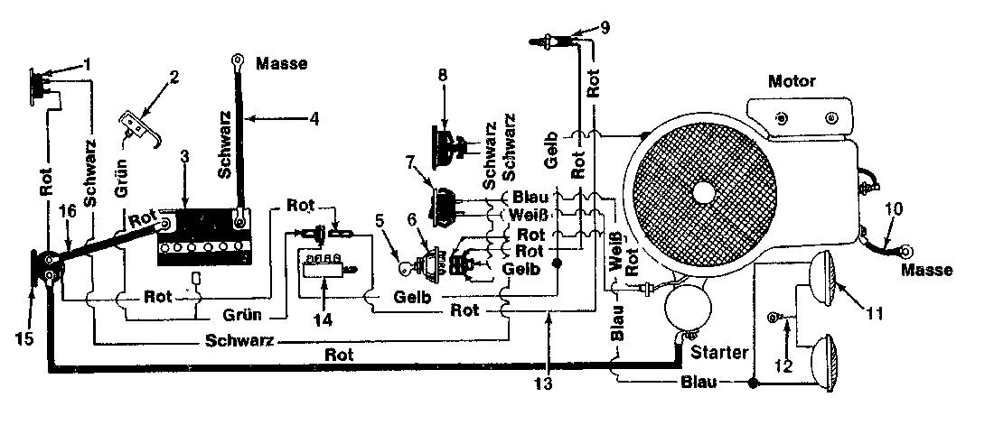 Schaltplan, 136-6370 (1986), 110/960 SL, Rasentraktoren ...